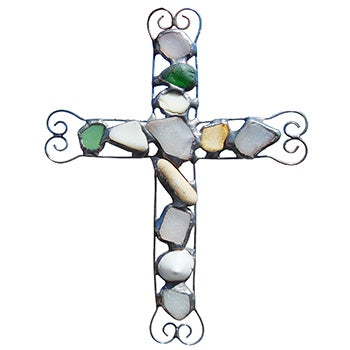 Cross Suncatcher-Sea Glass