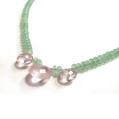 Green Jade & Rose Quartz Necklace