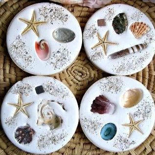 Sea shell coasters