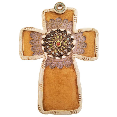 Ceramic Cross-Black Medallion