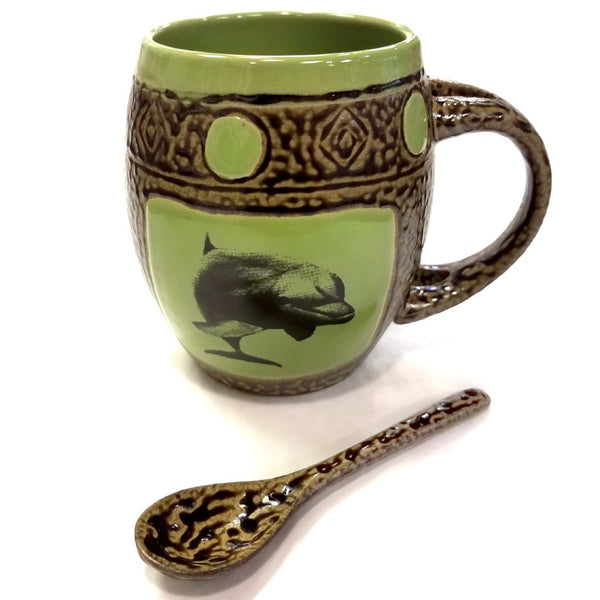 Mug with Spoon-Dolphin