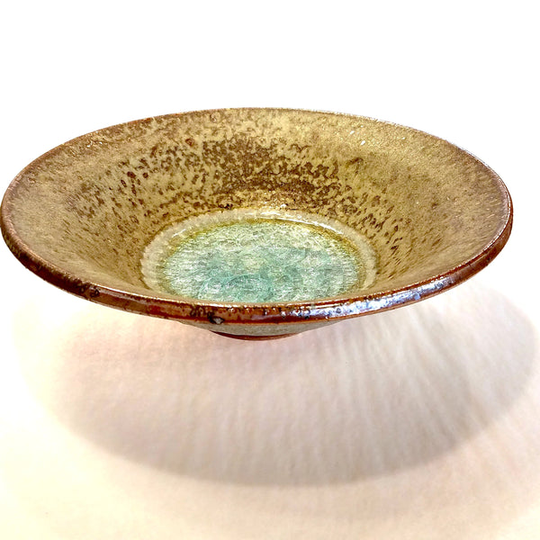 Flared Bowl-Large-Copper with Glass