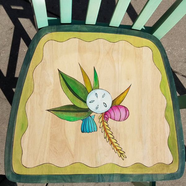 Bistro Set-Table & 2 Stools-Beach Theme