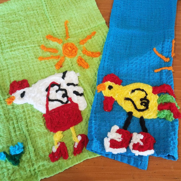 Kitchen Towel-Chicken on the Run