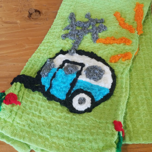 Kitchen Towel-Retro Camper