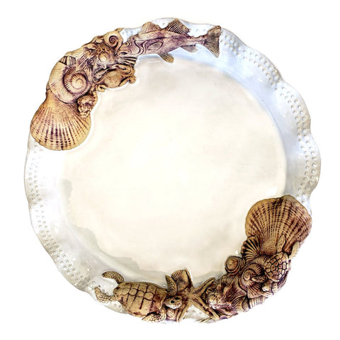 Sealife Large Round Platter