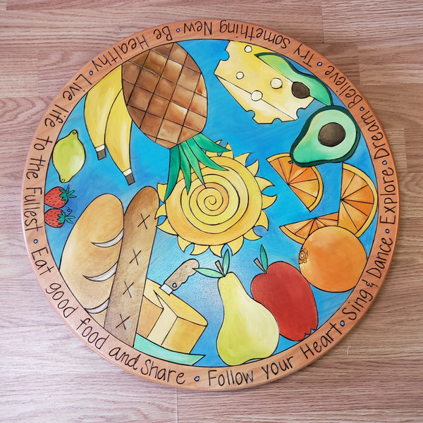 "Lazy Susan 20""-Eat Good Food"