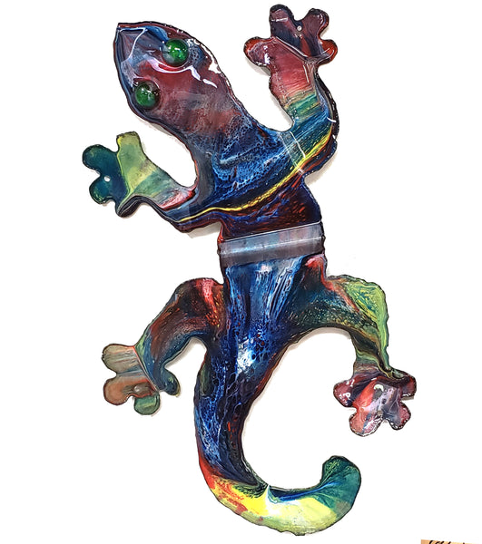 Gecko Tin Roof Wall Art