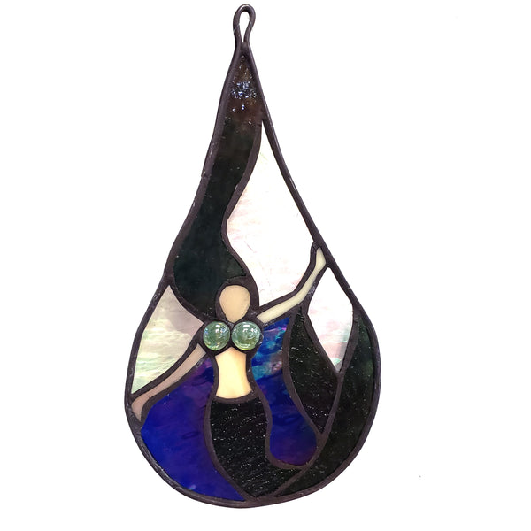 Stained Glass Teardrop-Mermaid