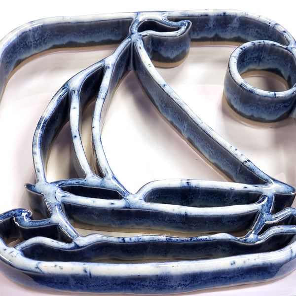 Ceramic Trivet-Sailboat