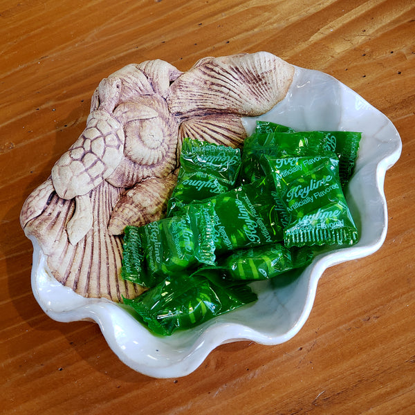 Leaf Dish  with Sea Turtle