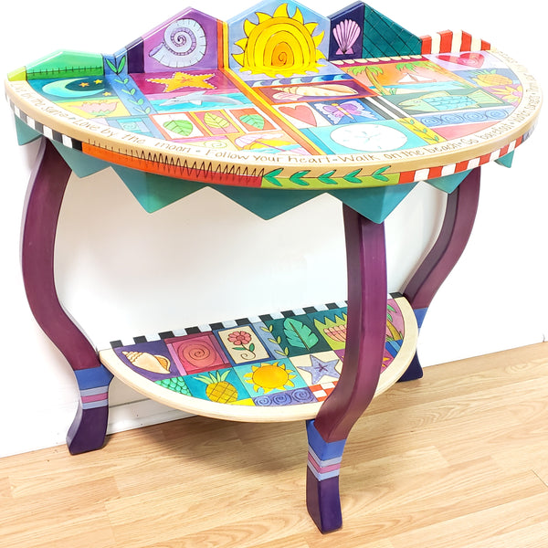Half Round Table-Beach Patchwork