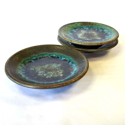 Dipping Dish-Green with Glass