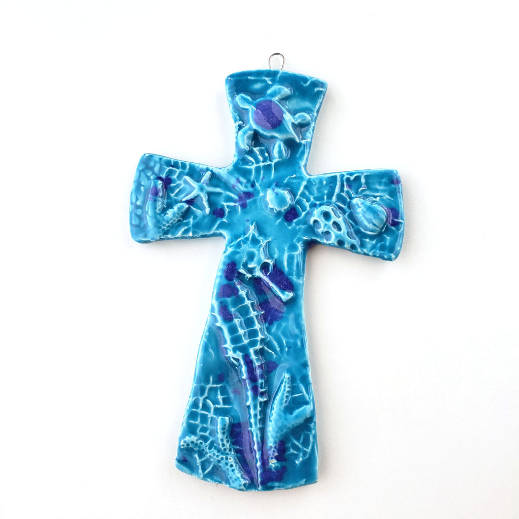 Sealife Ceramic Cross, Small