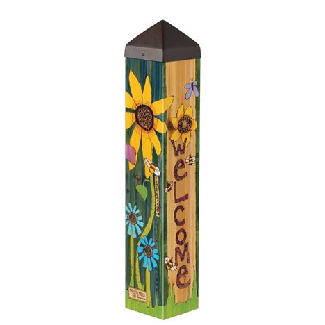 Welcome Garden Art Pole