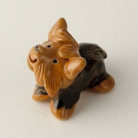 Yorkshire Terrier miniature ceramic sculpture