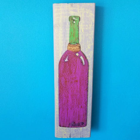 Large Art Block-Wine Bottle