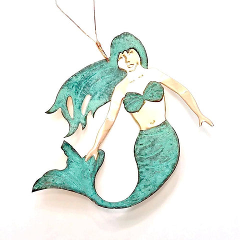 Copper Ornament-Mermaid