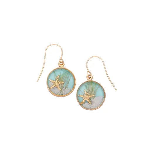 Sand Dune Earrings-Gold, Round