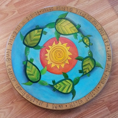 "Sticks Lazy Susan 20""-Turtles"