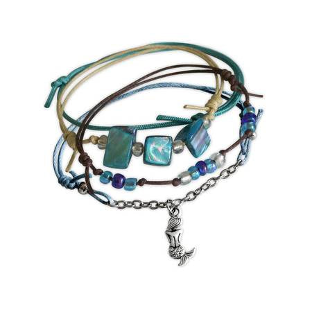 Charm Bracelet Set-Mermaid