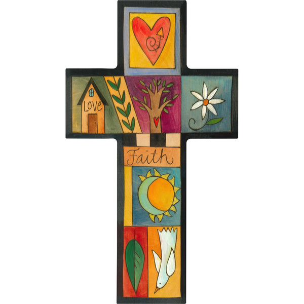 Cross Plaque-Love & Faith