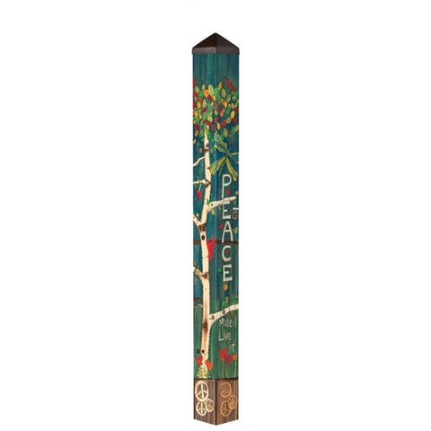 Art Pole 5'-Peace Tree
