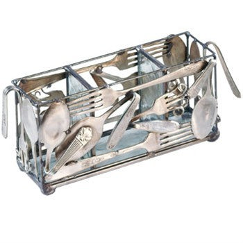 Silverplate Flatware Holder