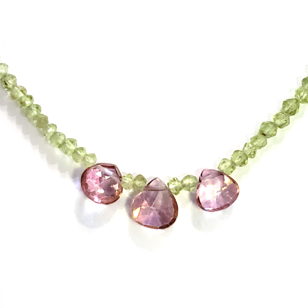 Peridot & Pink Topaz Necklace