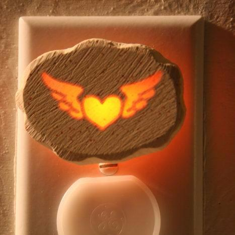 Glow Nightlight-Winged Heart