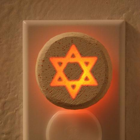 Glow Nightlight-Star Of David