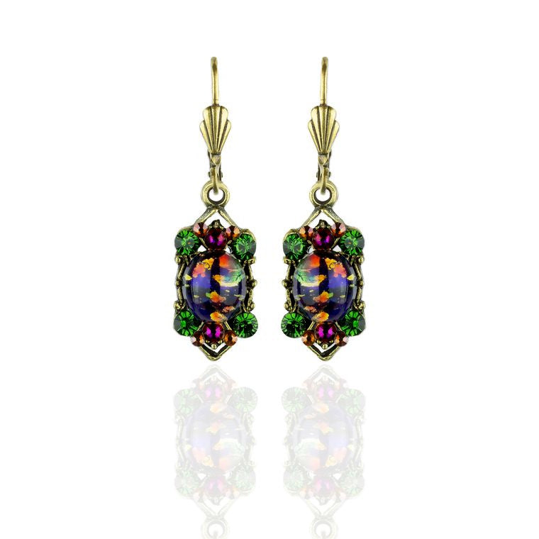 Dark Opal Crystal Earrings