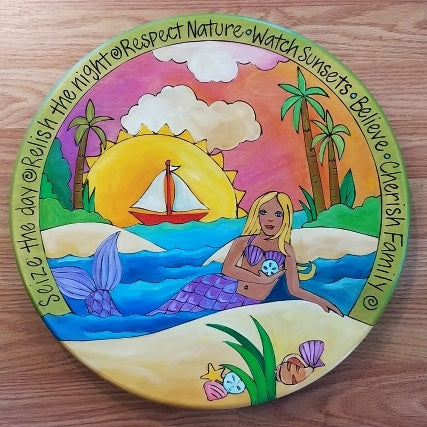 "Sticks Lazy Susan 16""-Mermaid 