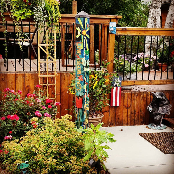 Art Pole-6 Foot-Love Garden