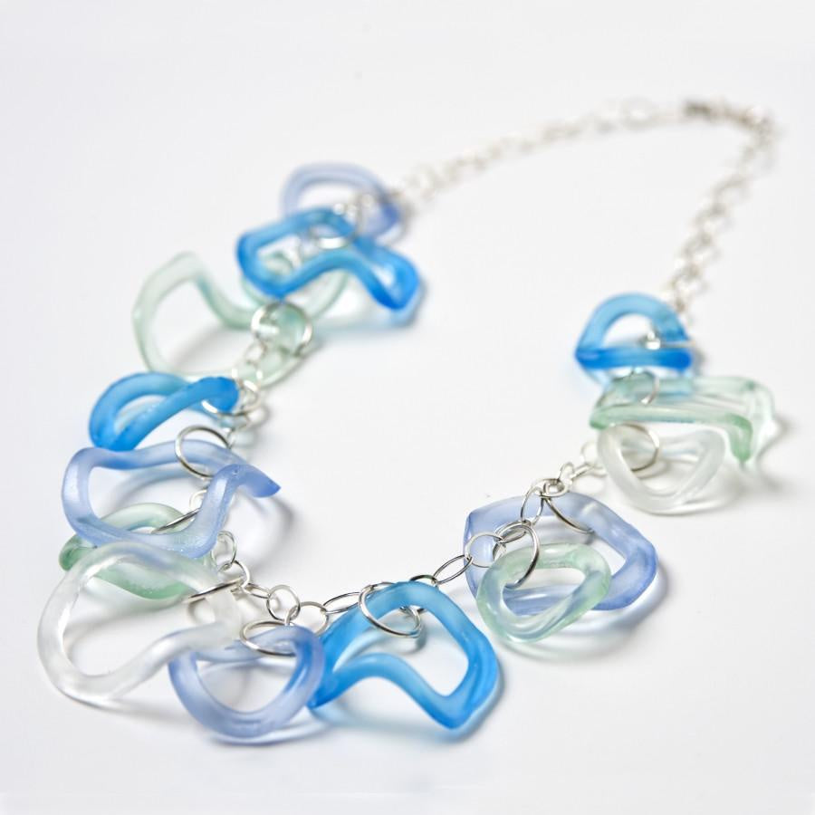 Wave Ruffle Necklace-Ocean