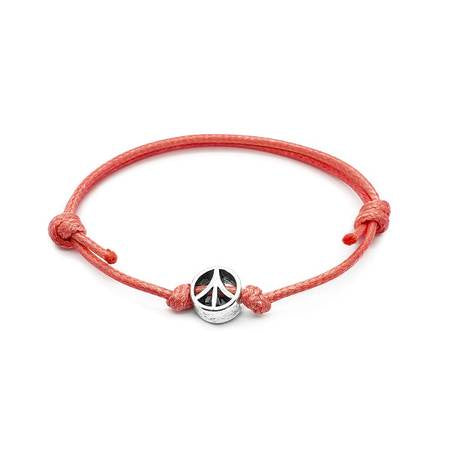 Peace Sign Bead Bracelet