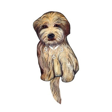Tail Wagging Clock-Wheaton Terrier