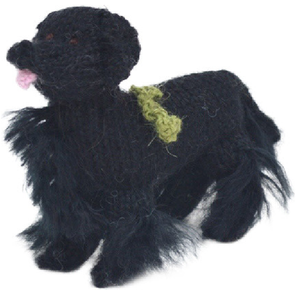 Hand Knit Dog Ornament-Newfie