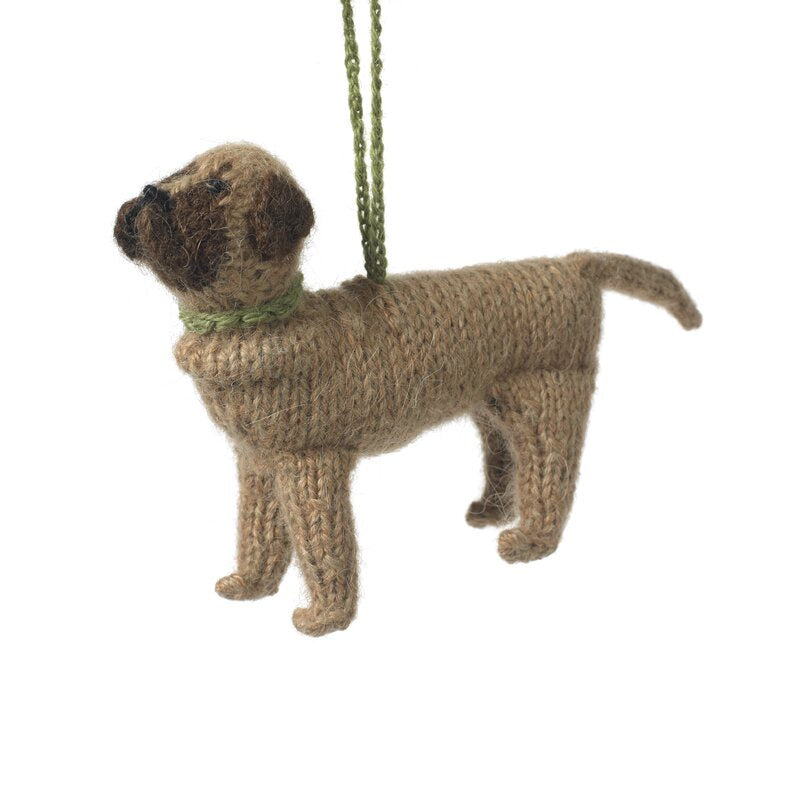 Hand Knit Dog Ornament-Mastiff
