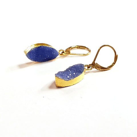 Marquis Druzy Earrings-Periwinkle