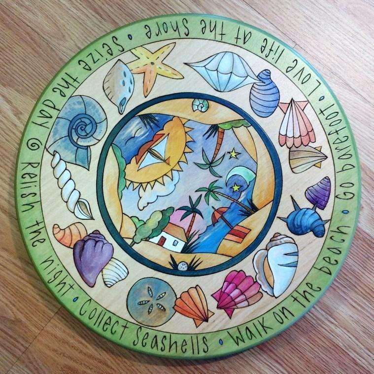 "Sticks Lazy Susan 16""-Sea Shells"