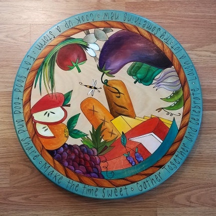 "Sticks Lazy Susan 20""-Eat Good Food 