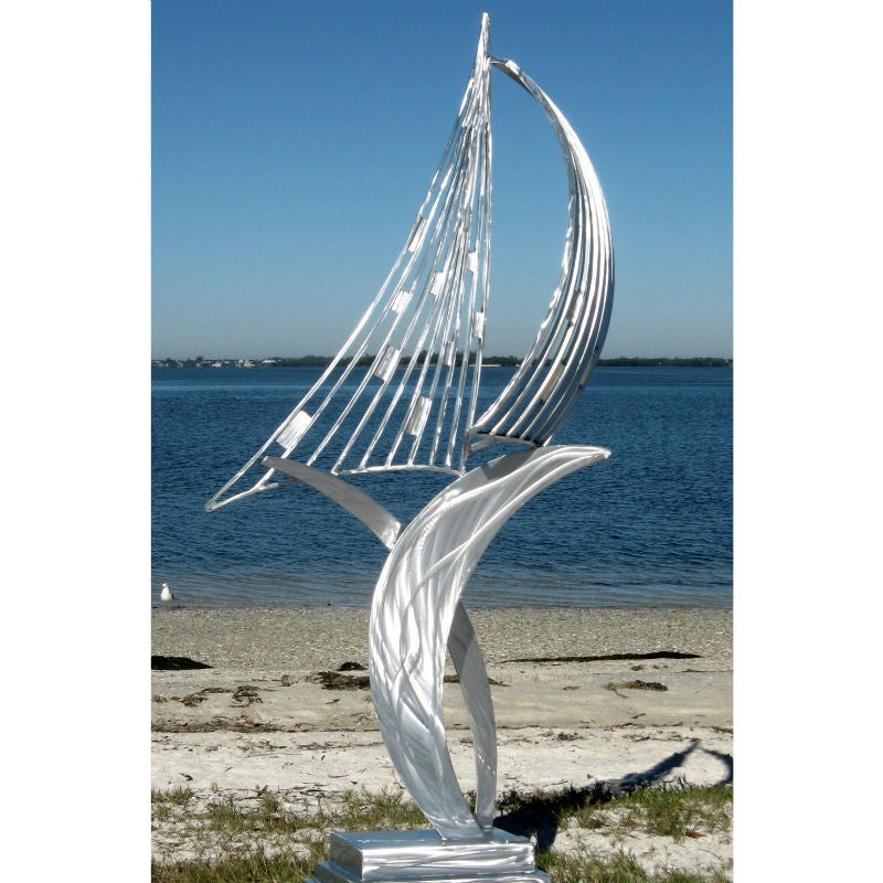 Sail Away Aluminum Sculpture