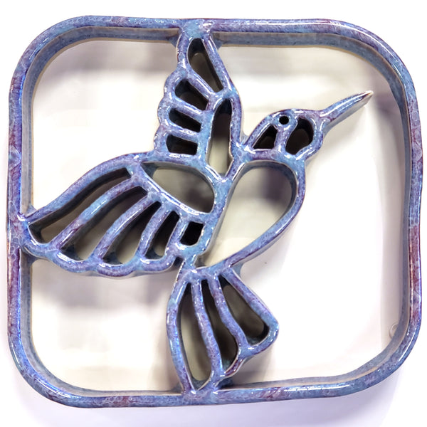 Hummingbird Ceramic Trivet Bay Pottery