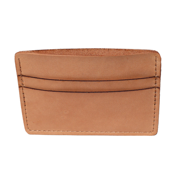 Leather Card Holder Wallet - Natural