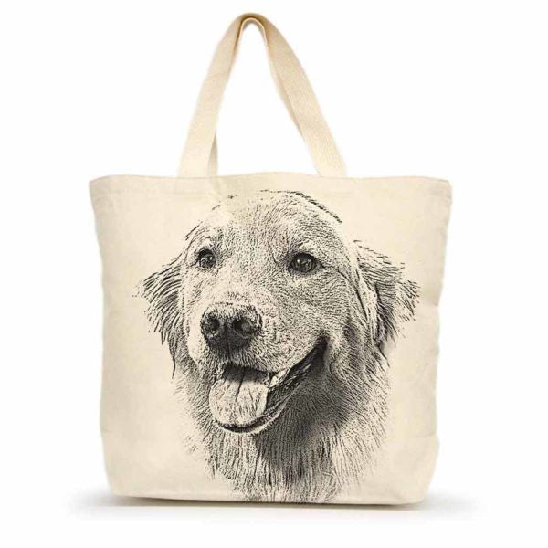 Golden Retriever (#1) Tote Bag