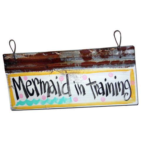 Mermaid in Training Sign