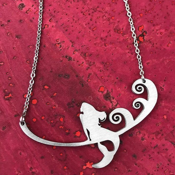 Mermaid Silhouette Necklace