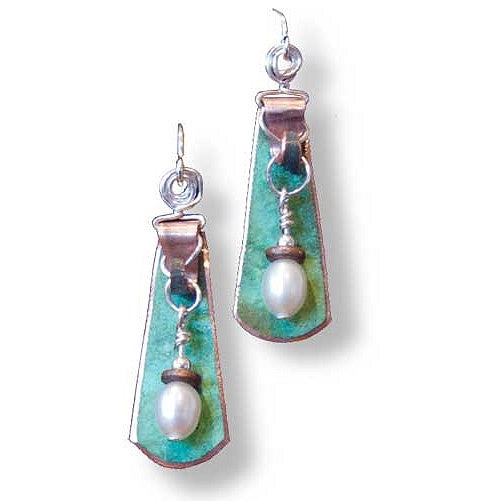 Luma Copper & Pearl Earrings