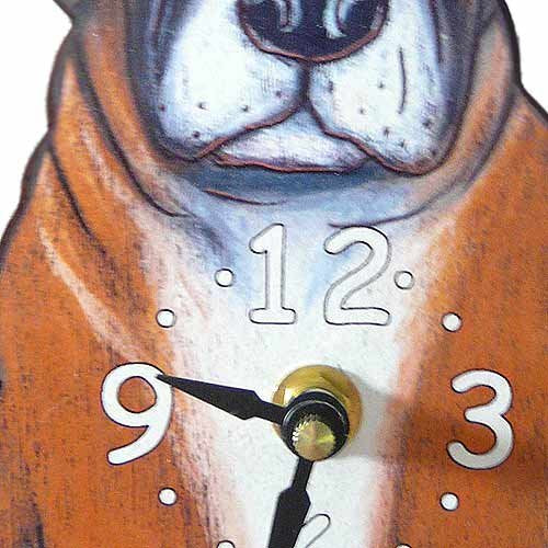 Tail Wagging Clock-Boxer